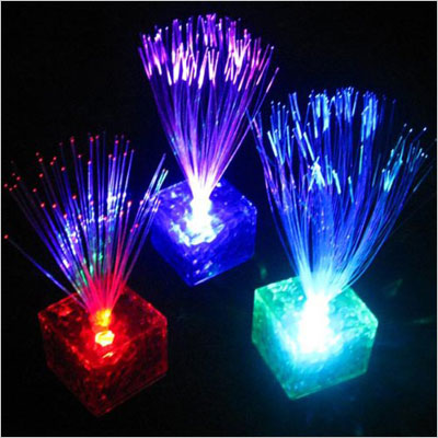 7 Color Changing Optic Fiber Flashing LED Lamp