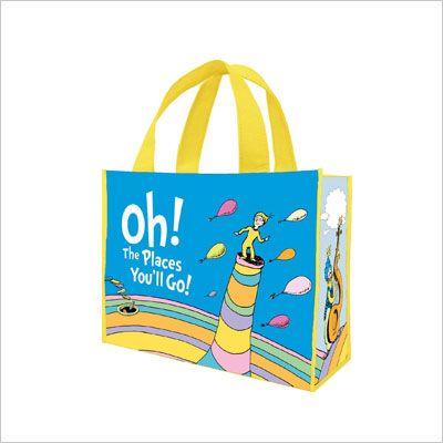 Dr. Seuss Oh The Places Recycled Shopper Tote