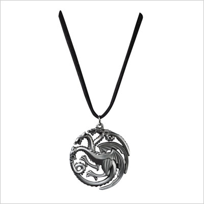 Game of Thrones Targaryen Dragon Die-Cast Pendant Necklace