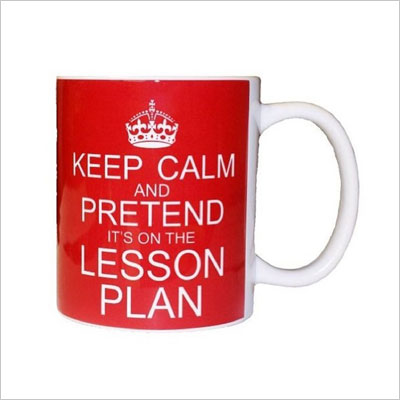 Keep Calm Pretend It's On The Lesson Plan Coffee Mug