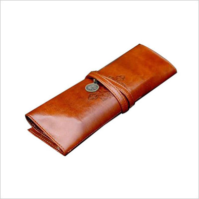 Retro Bandage Synthetic Leather Pen Pouch