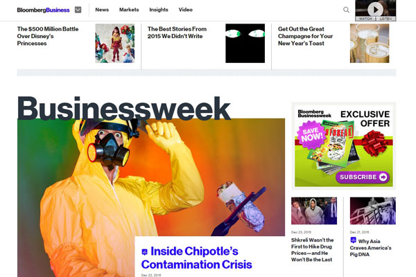 Bloomberg BusinessWeek Business Website