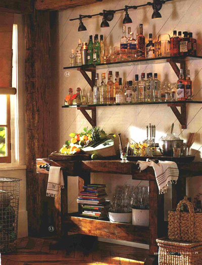 Hand-Made Wet Bar Idea