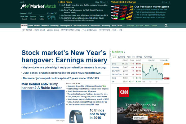 MarketWatch Business Website