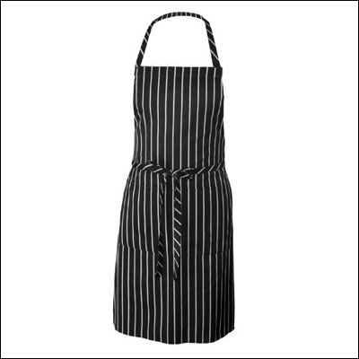 Chef Works CSBA-BCS Chalk Stripe Bib Apron with Pockets