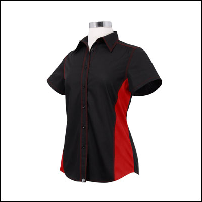 Chef Works CSWC-BRM-XL Women Universal Contrast Shirt
