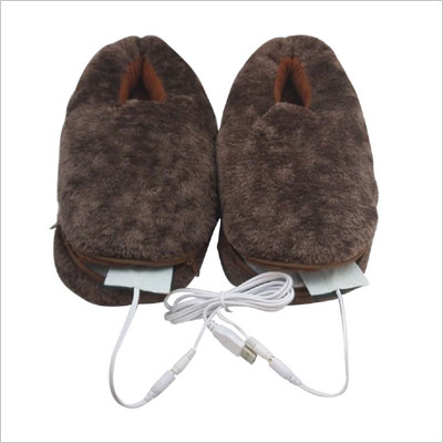 Plush USB Electric Heating Slippers Shoe