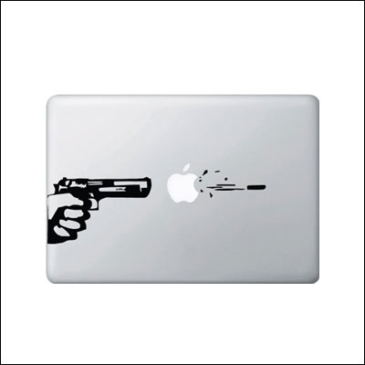 Apple-Gun and Bullet Macbook or Laptop Decal