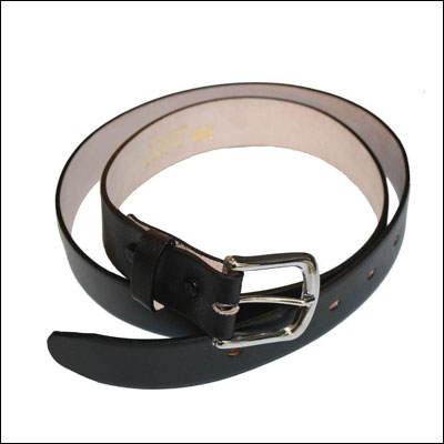 Heavy duty cow leather belt black