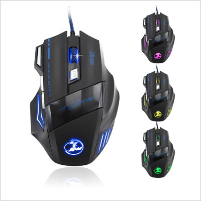 Zelotes 5500 DPI 7 Button Optical Mouse Pro Gamer