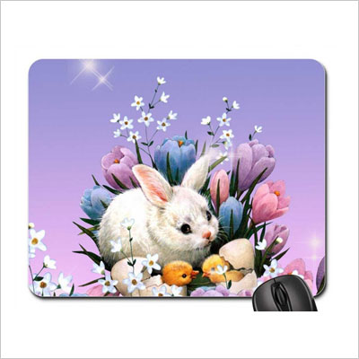 Snuggle Bunny Easter Mouse Pad