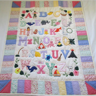 ABC baby blanket wall hanging
