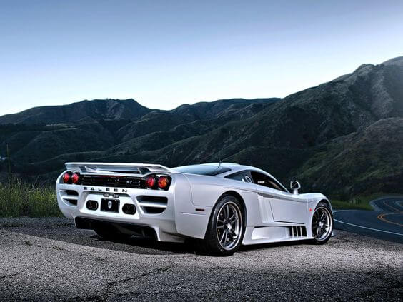 White Saleen s7 twin