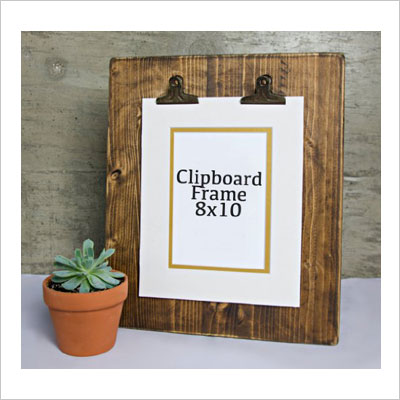 Rustic Wooden Picture Clipboard