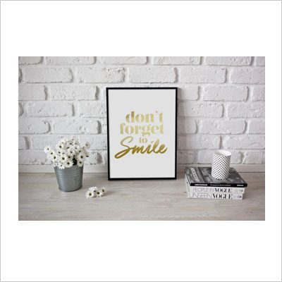 Dont't Forget to Smile Typography Poster