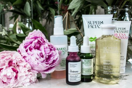 different skincare products