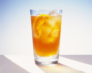 A glass of ice tea