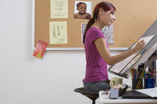 female freelance artist