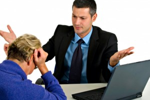 an employer giving feedback, negative feedback, candidate with no success