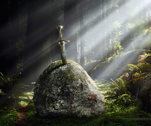 King Arthur's mythical sword Excalibur