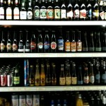beer in supermarket
