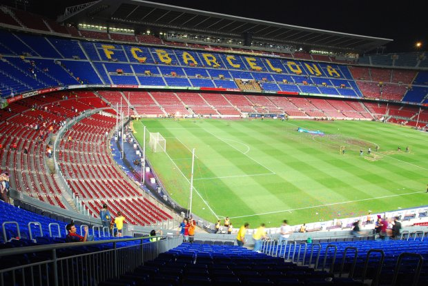 Football stadium for all fans of FC Barcelona, a must see sights in your tour of Barcelona