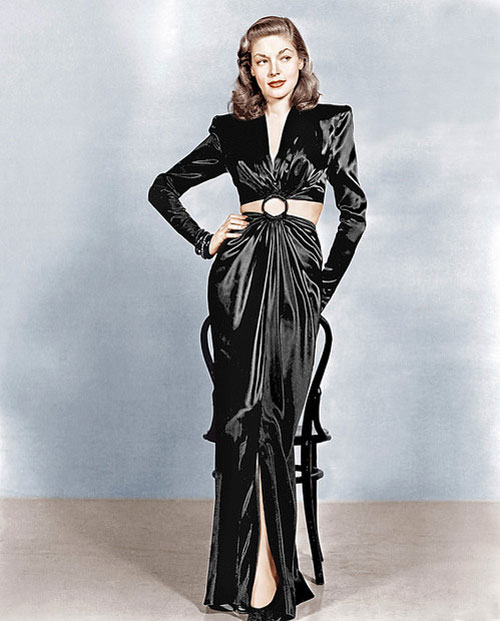 To Have and Have Not Lauren Bacall black gown