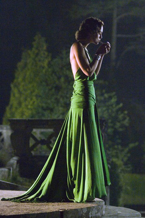 Keira Knightley green backless dress Atonement