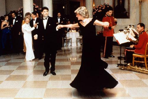 Princess Diana John Travolta blue velvet White House