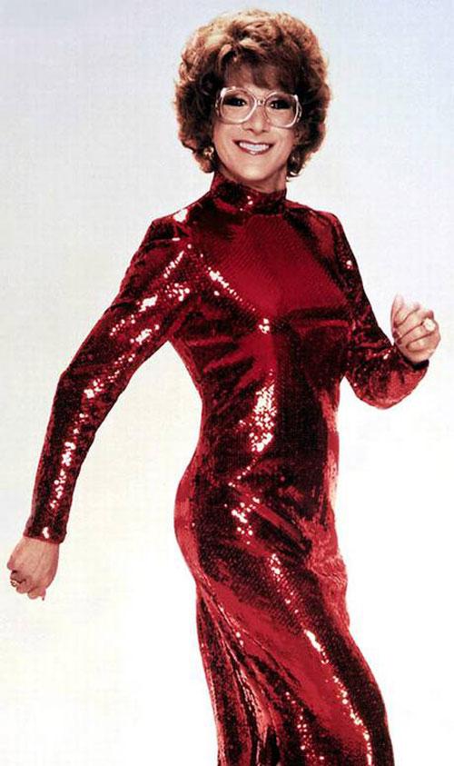 Dustin Hoffman red sequin dress Tootsie