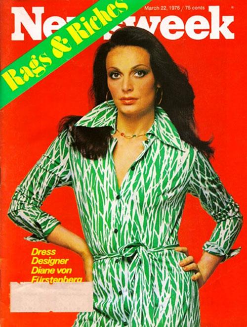 Diane von Furstenberg original wrap dress Newsweek cover