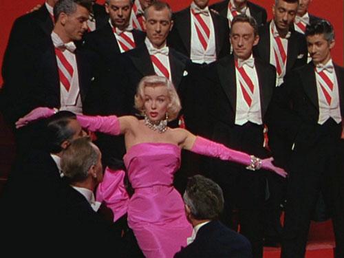 Marilyn Monroe hot pink dress Diamonds are a girls best friends