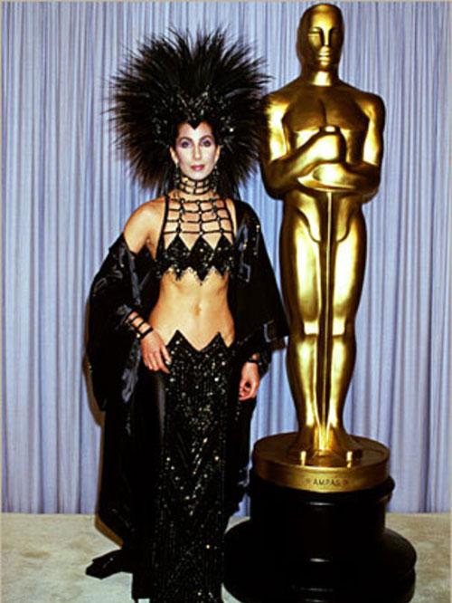 Cher 1986 Oscars Bob Mackie dress headpiece