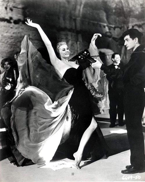 Anita Eckberg strapless dress La Dolce Vita