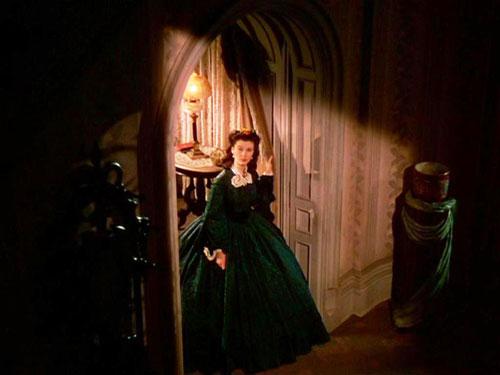 Scarlet O'Hara Gone with the wind green velvet dress