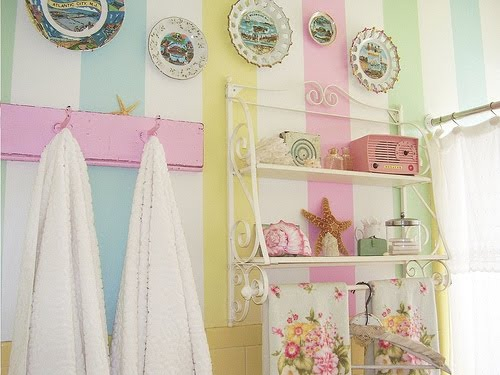 bathroom decorating ideas pastel