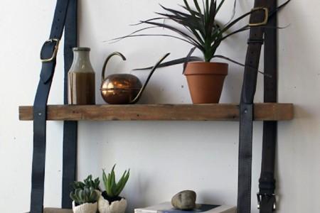interior design ideas belt shelf