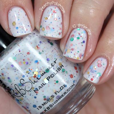 rainbow splash nail polish