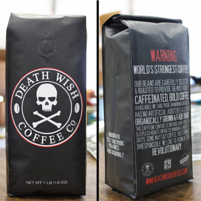Death Wish Ground Coffee - The World's Strongest Coffee