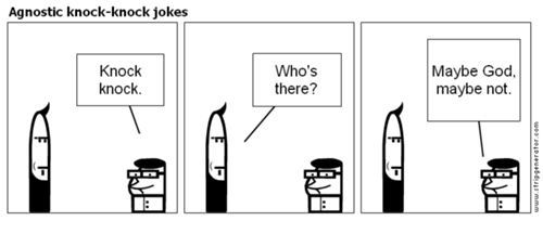 Agnostic knock knock jokes