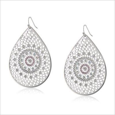 Baroque Bohemia Silver Teardrop Earrings