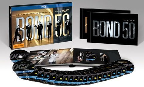 Bond 50 The Complete 23 Film Collection with Skyfall