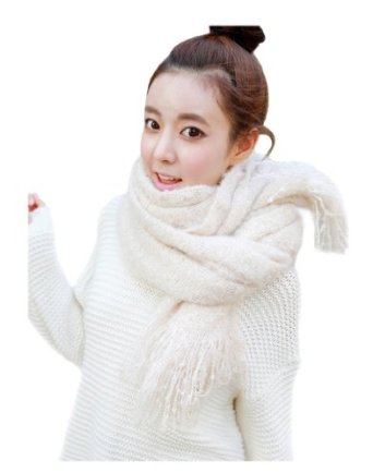 Cool2day Girls Pure Color Long Thicken Mohair Knitted Scarves Shawl Wrap