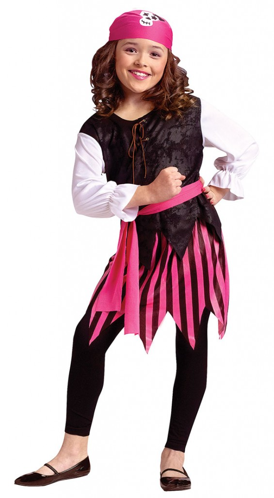 Girls Caribbean Pirate Girl Costume