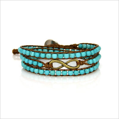 Infinity Wrap Bracelet with Turquoise Beads