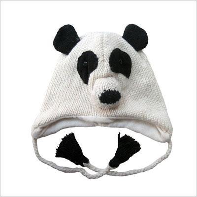 Knit Wool Panda Bear Beanie Hat