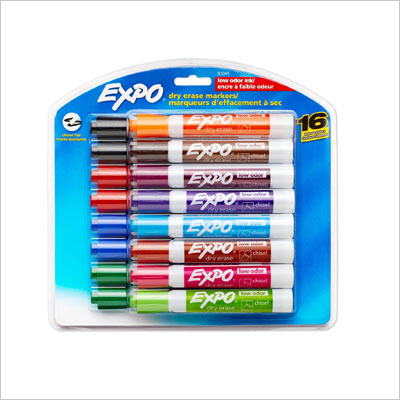 Low-Odor Dry Erase Markers