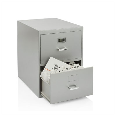 Miniature File Cabinet for Business Cards