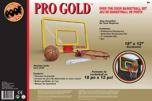 POOF Slinky Over The Door 18-Inch Breakaway Rim Basketball Hoop Set