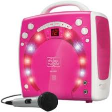 Singing Machine Sml283p Portable Karaoke System Pink